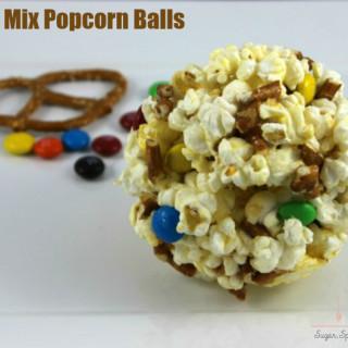 Snack Mix Popcorn Ball