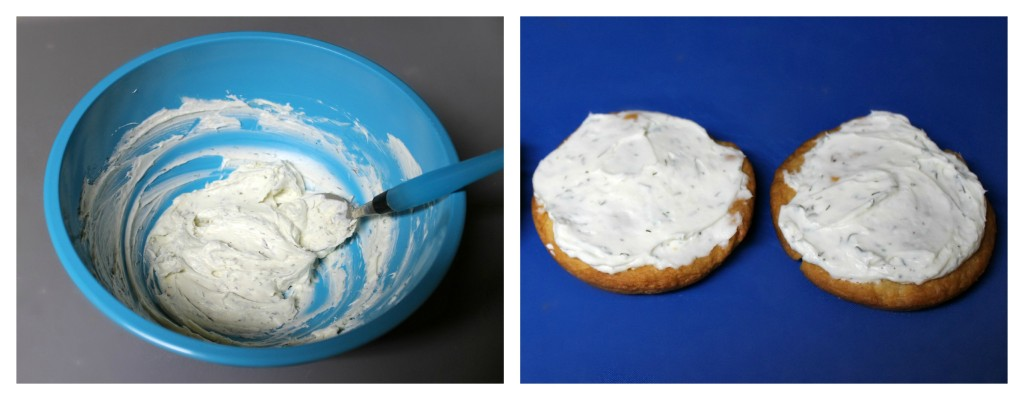 Cream cheese ranch mixture for Veggie Pizza Appetizers