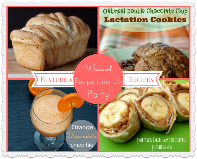 Weekend Link Up Party Featured Recipes