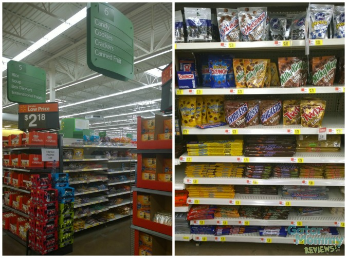 Candy Aisle at Walmart #EatMoreBites #shop