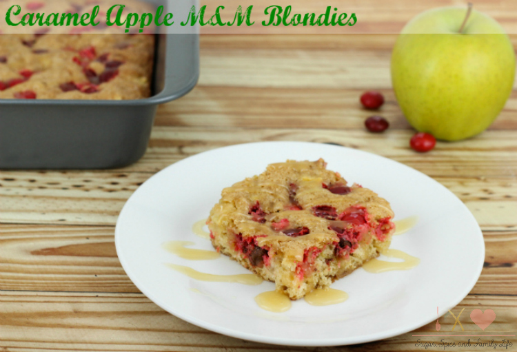 Caramel Apple M&M Blondies