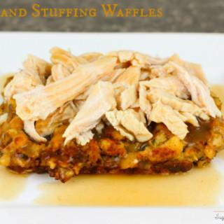 Turkey and Stuffing Waffles