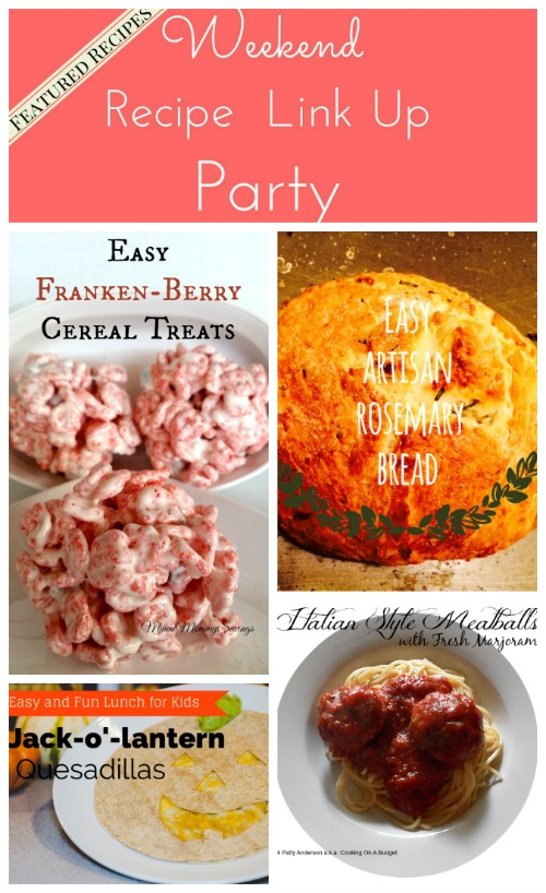 Weekend Recipe Link Up Party featured recipes 31