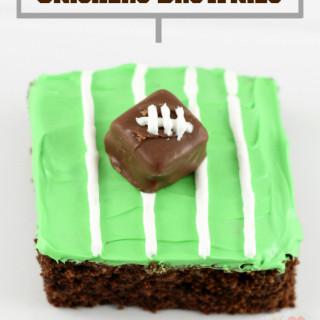 Snickers Football Field Brownies