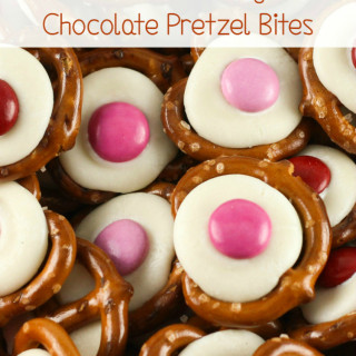 Valentine's Day Chocolate Pretzel Bites