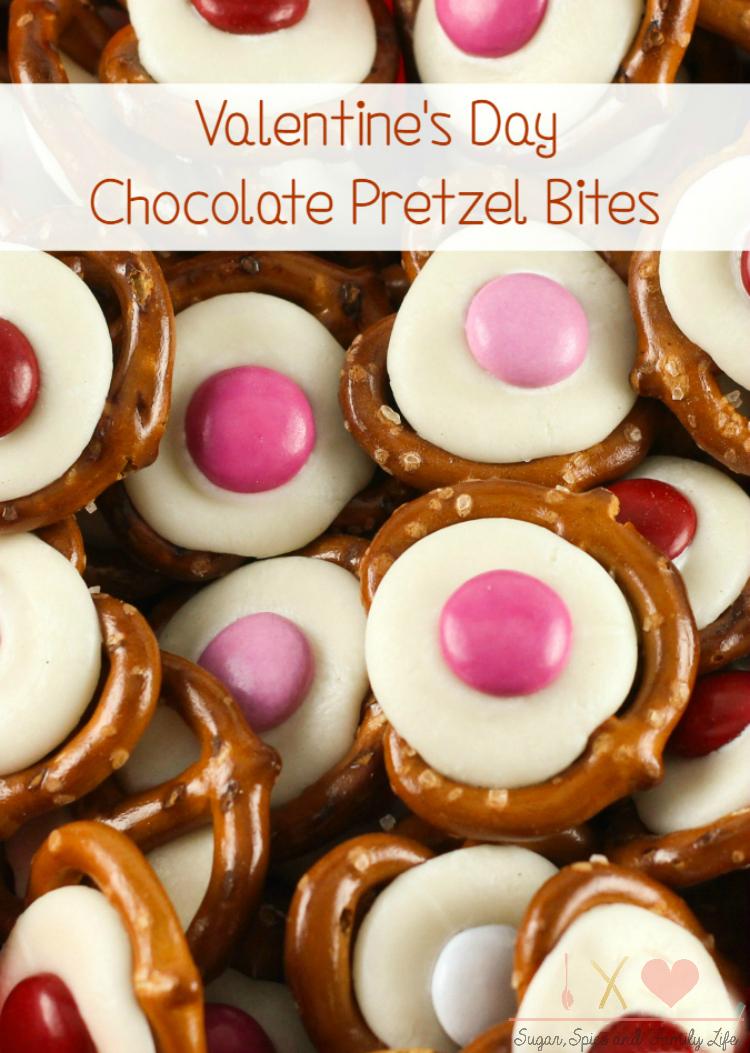Valentines Day Chocolate Pretzel Bites Recipe Sugar