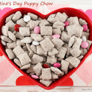 Valentine's Day Puppy Chow Recipe (aka Muddy Buddies)