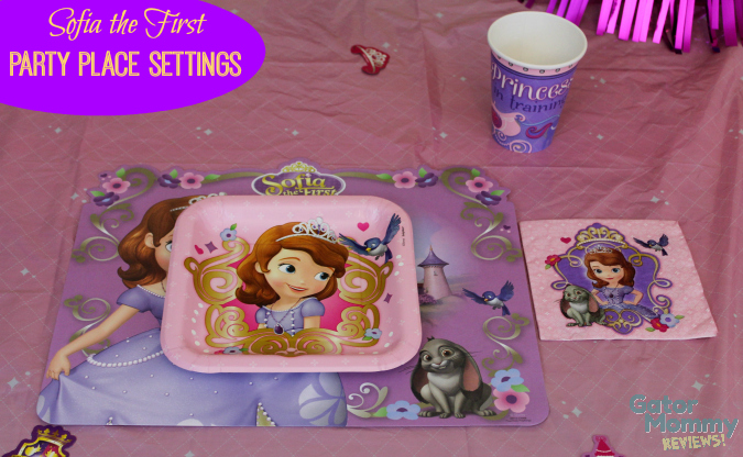 Sofia the First Party Place Settings