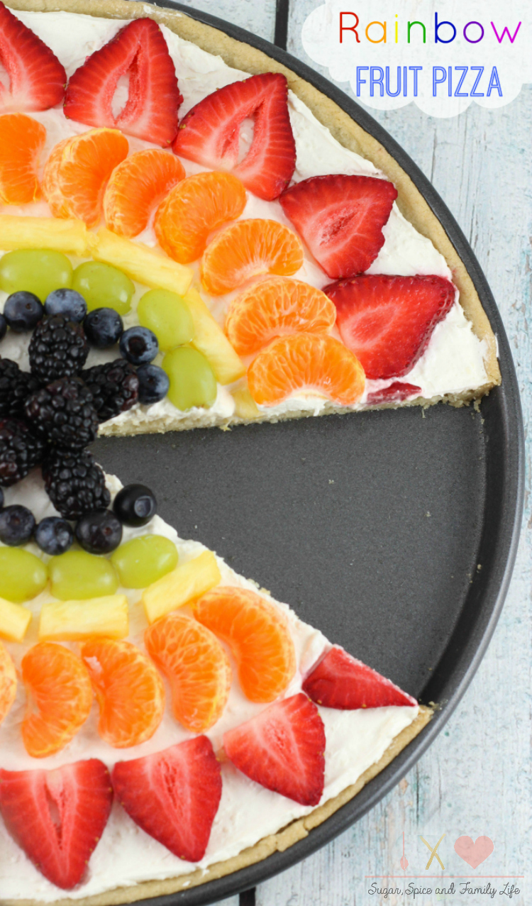Rainbow Fruit Pizza
