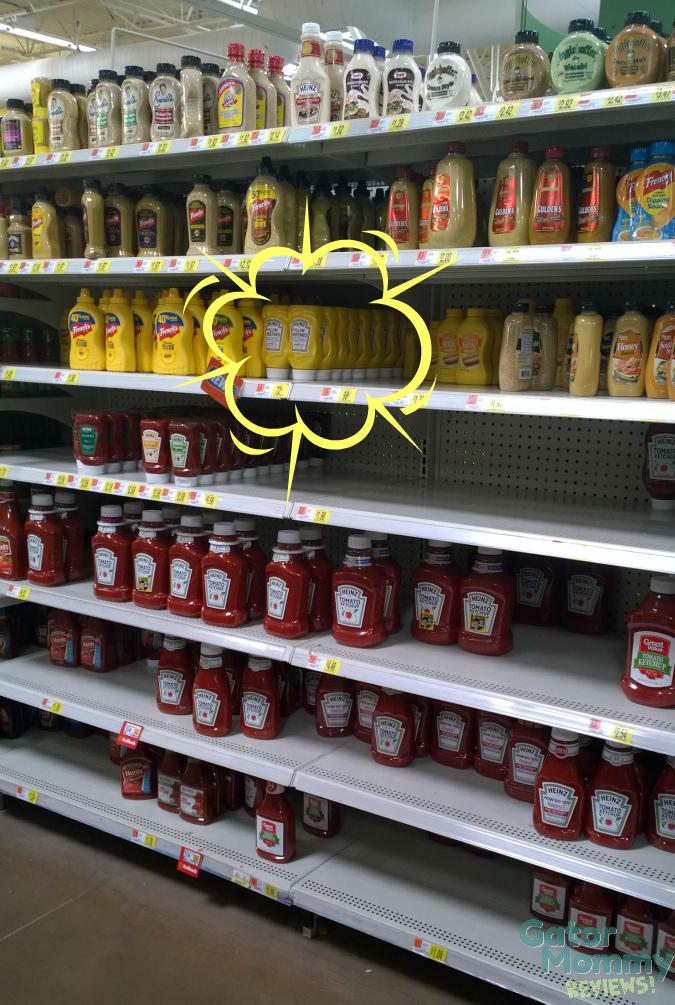 Condiment Aisle at Walmart
