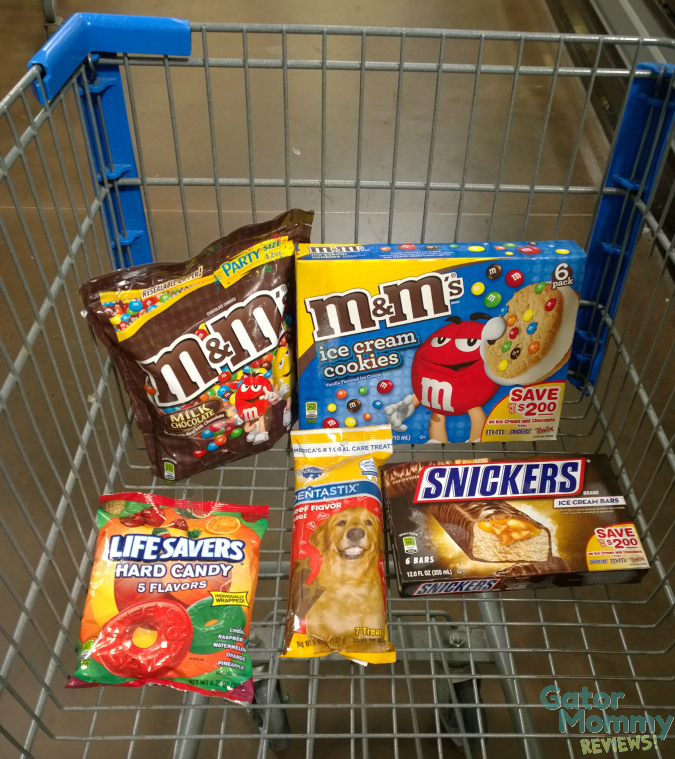 Walmart shopping for summer snacks