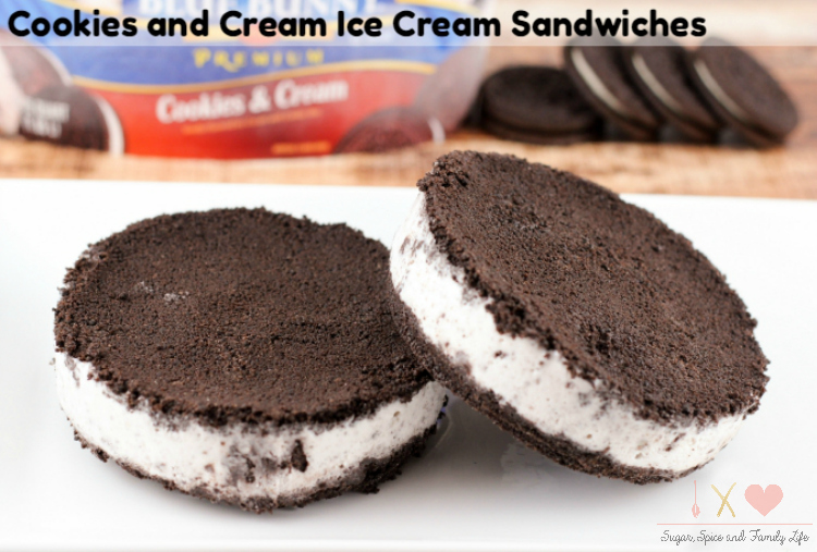 Cookies and Cream Ice Cream Sandwich