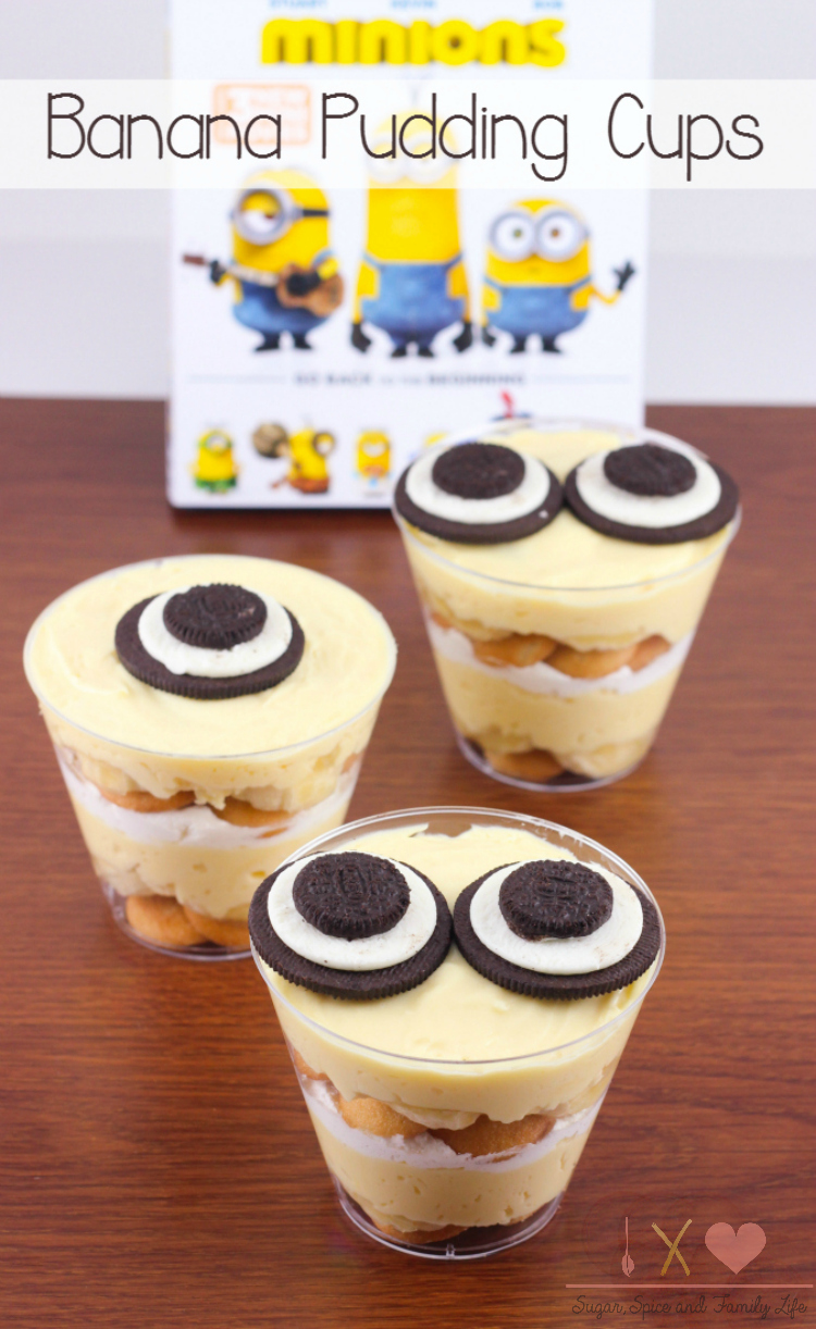 Minion Banana Pudding Cups