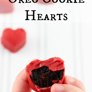 Oreo cookie Hearts