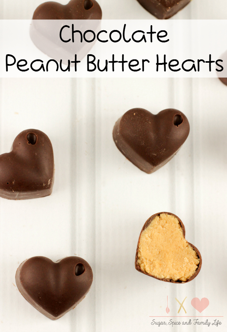 Chocolate Peanut Butter Hearts