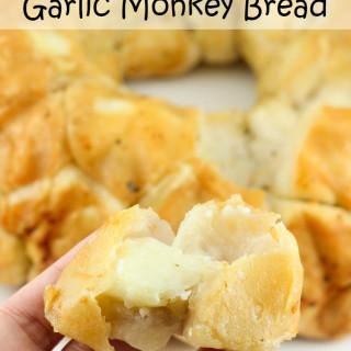 Mozzarella Stuffed Garlic Monkey Bread