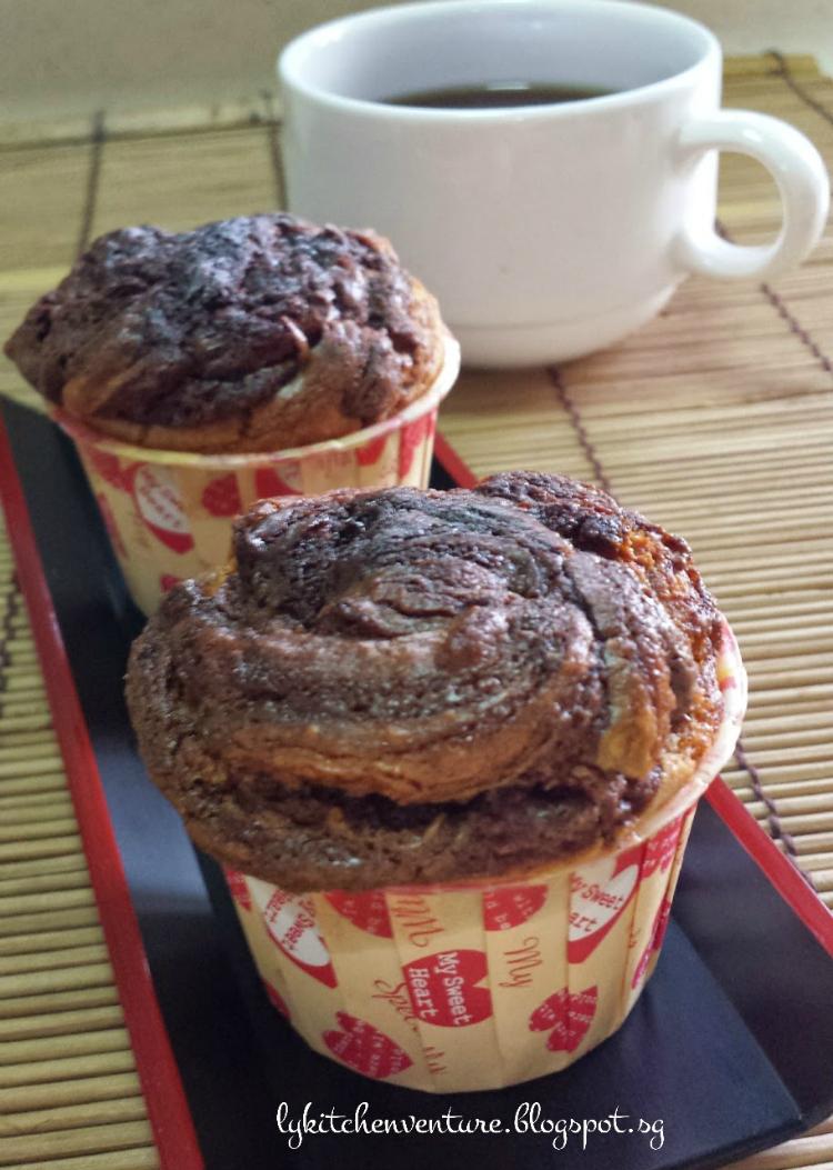 Nutella swirl muffin