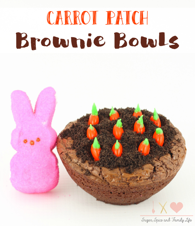 Carrot Patch Brownie Bowls