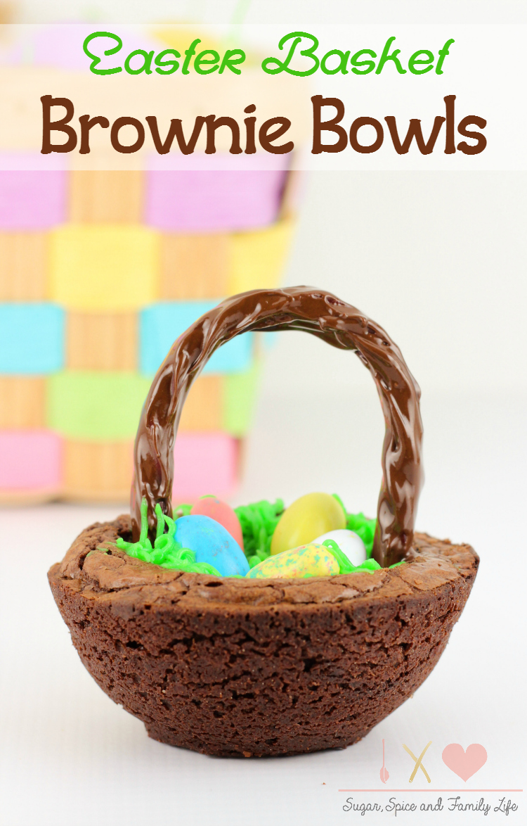Easter Basket Brownie Bowls