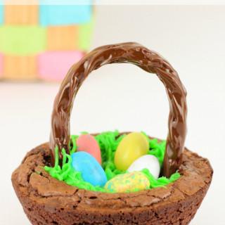 Easter Basket Brownie Bowls