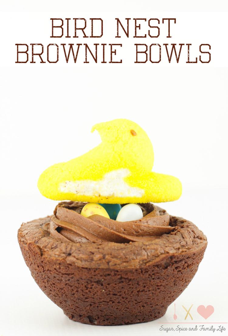 Bird Nest Brownie Bowls
