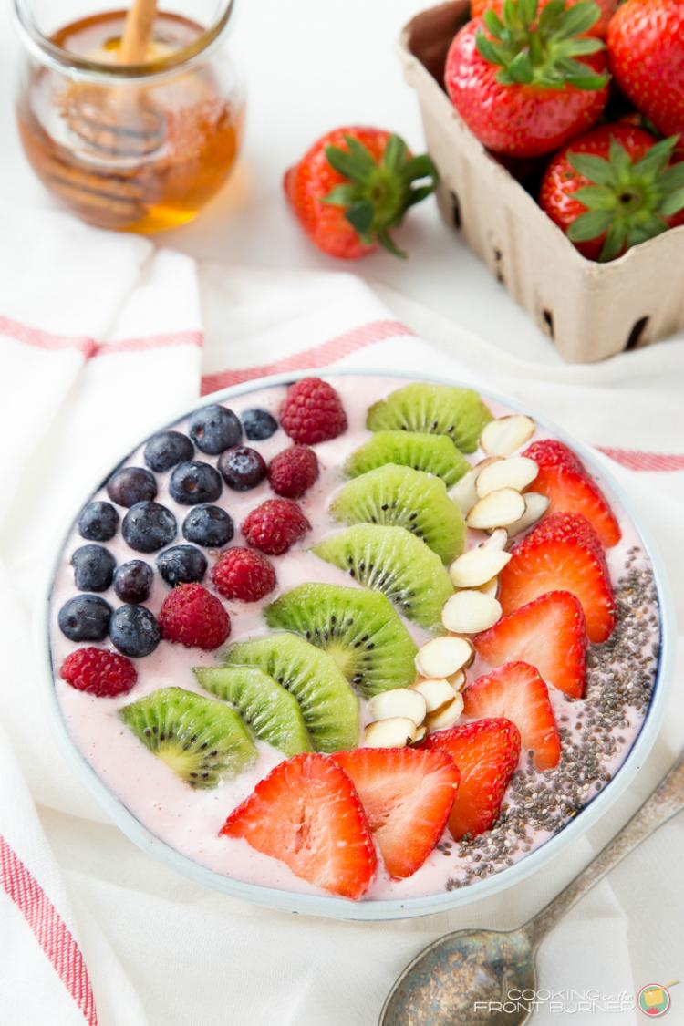 Strawberry Banana Orange Smoothie Bowl