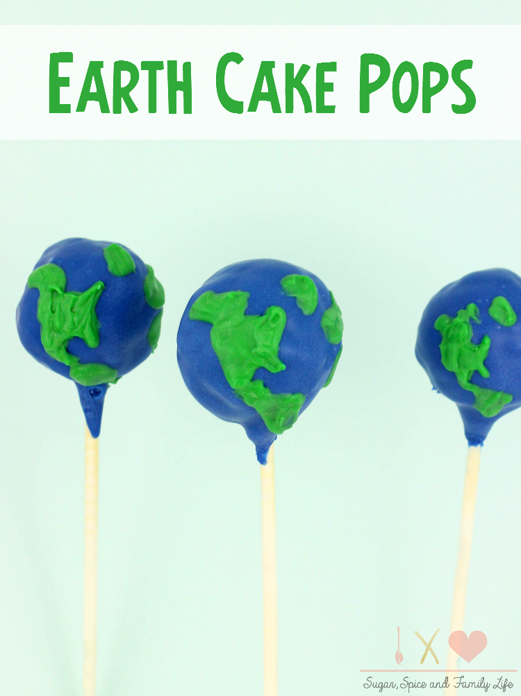Earth Cake Pops