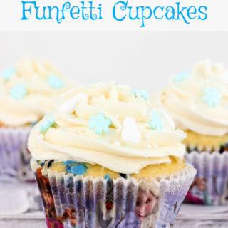 FROZEN Funfetti Cupcakes