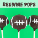 Football Brownie Pops