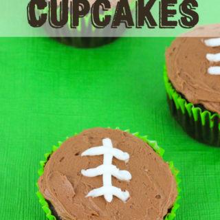 Football Chocolate Cupcakes