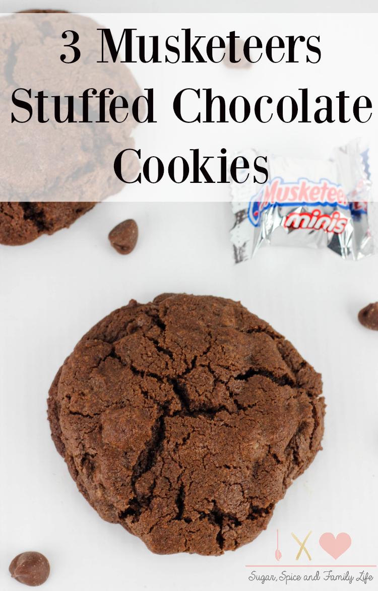 3 Musketeers Stuffed Chocolate Cookies
