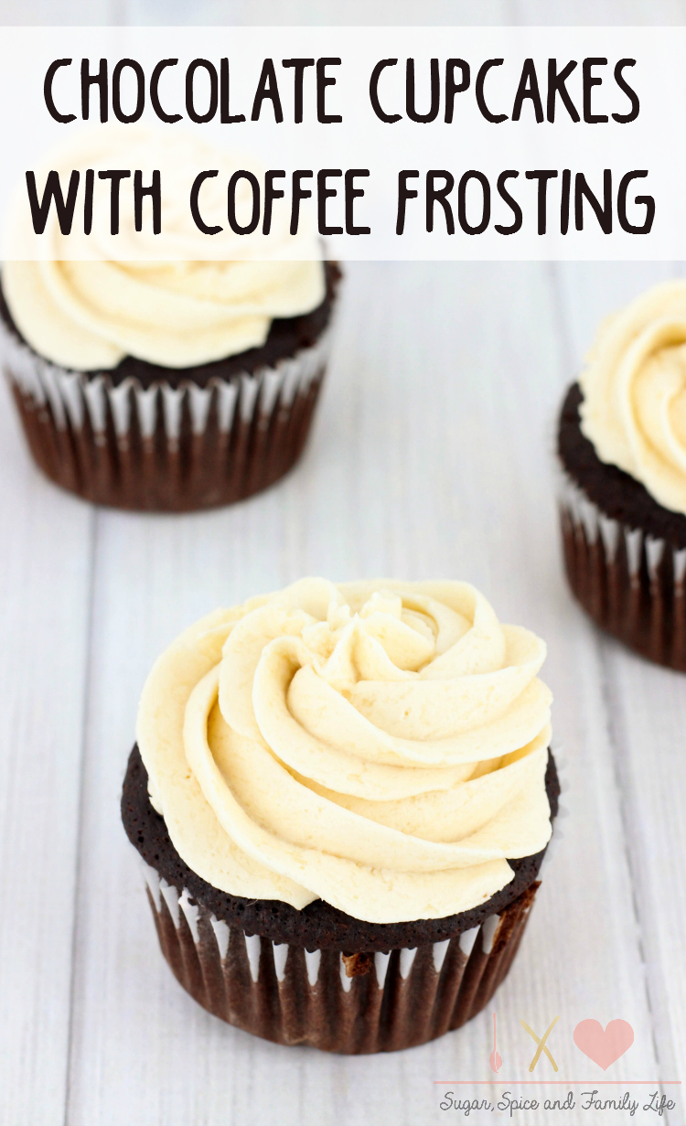 Chocolate Cupcakes with Coffee Frosting