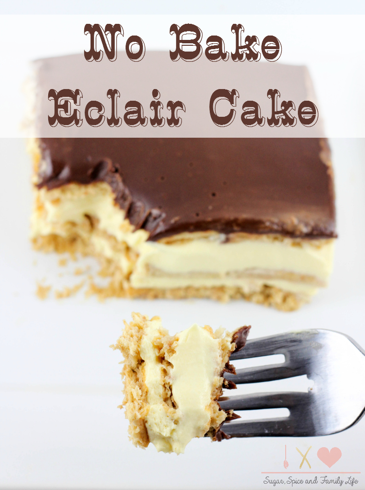 Easy No Bake Eclair Cake Recipe