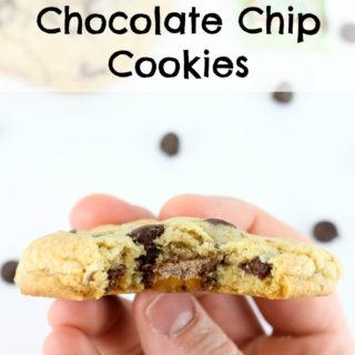 Milky Way Stuffed Chocolate Chip Cookies
