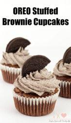 Oreo Stuffed Brownie Cupcakes Recipe