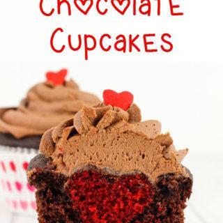 Hidden Heart Chocolate Cupcakes