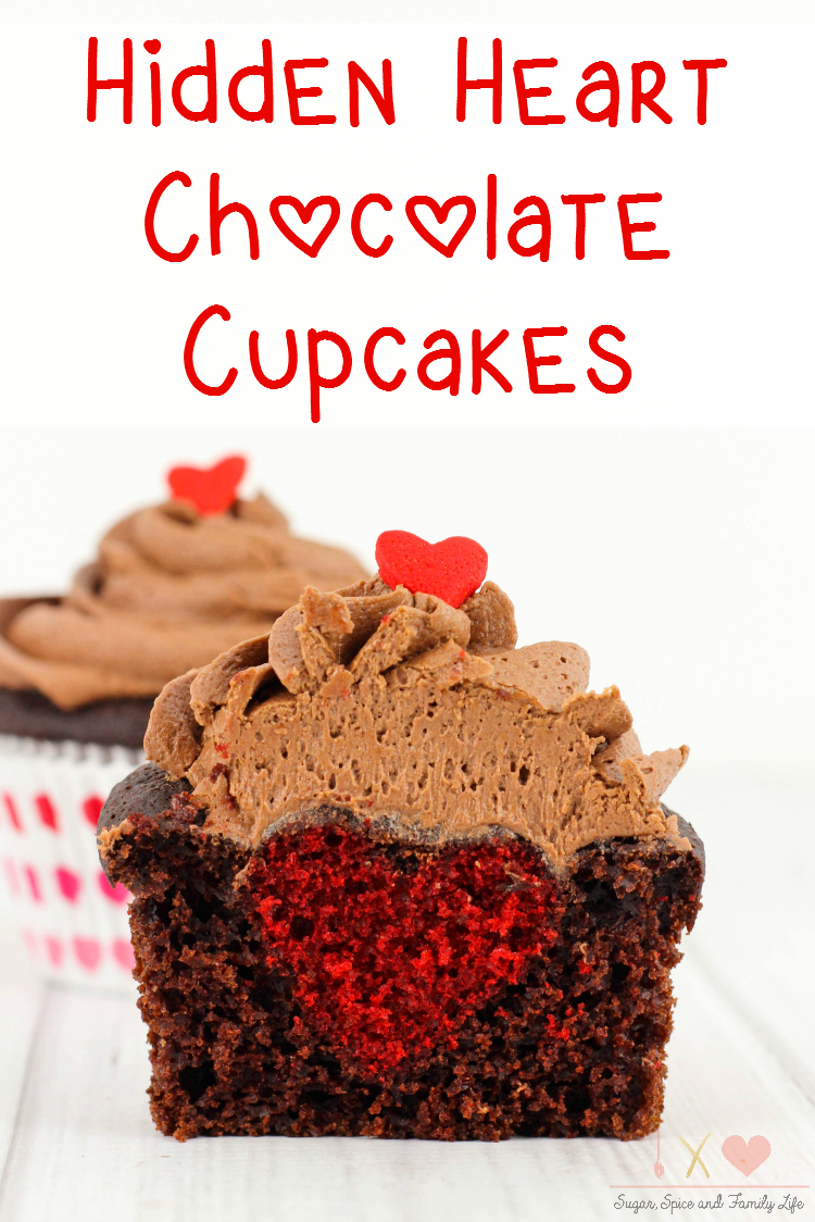 Hidden Heart Chocolate Cupcakes