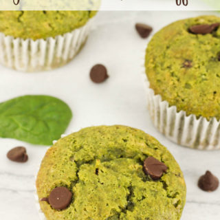 Chocolate Chip Green Smoothie Muffins