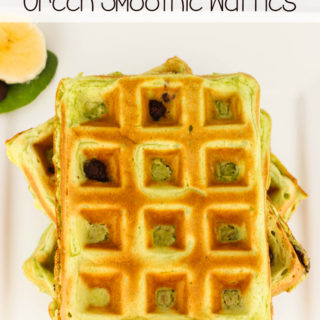 Chocolate Chip Green Smoothie Waffles