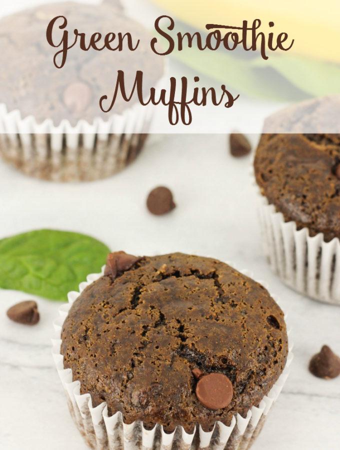 Chocolate Green Smoothie Muffins