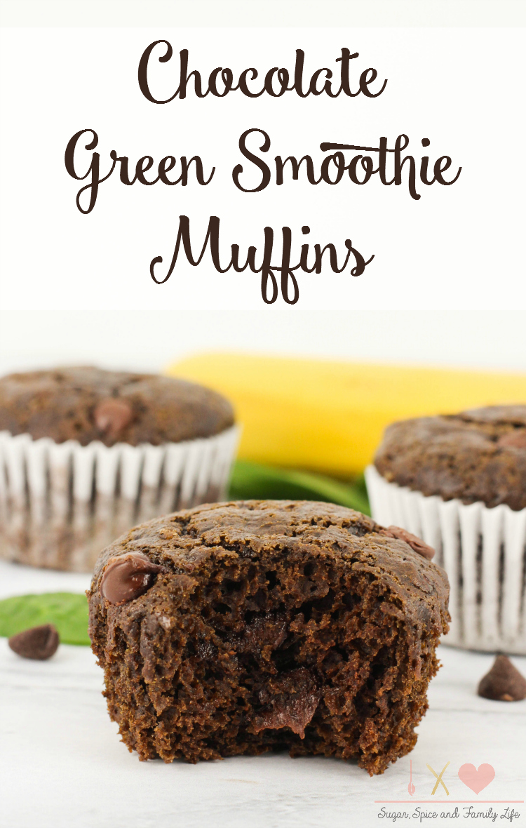 Chocolate Green Smoothie Muffins