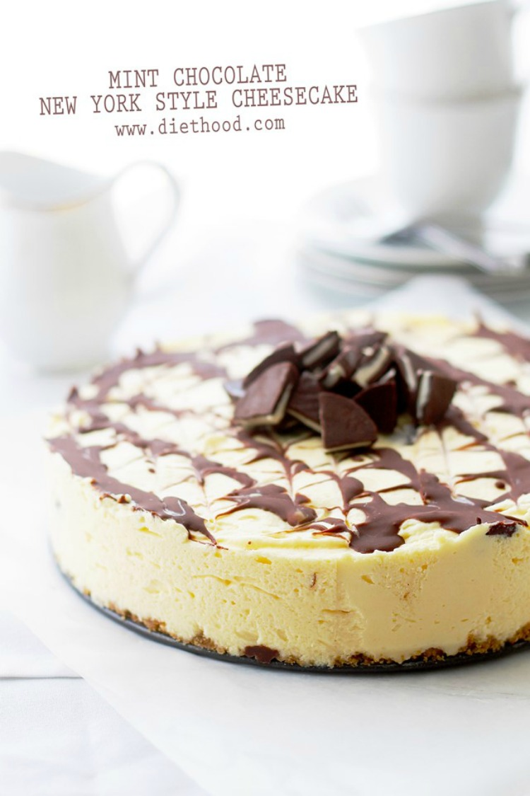 Mint Chocolate New York Style Cheesecake