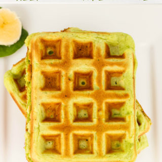 Green Smoothie Waffles