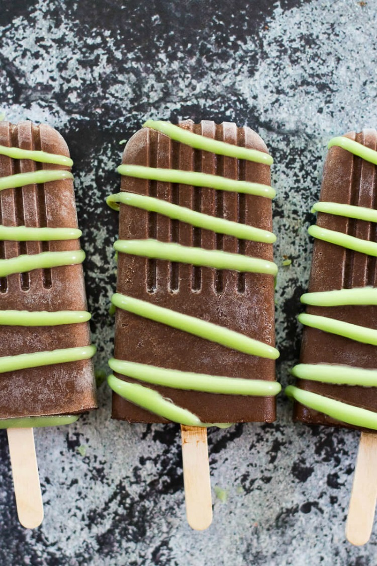 Mint Chocolate Fudgesicles