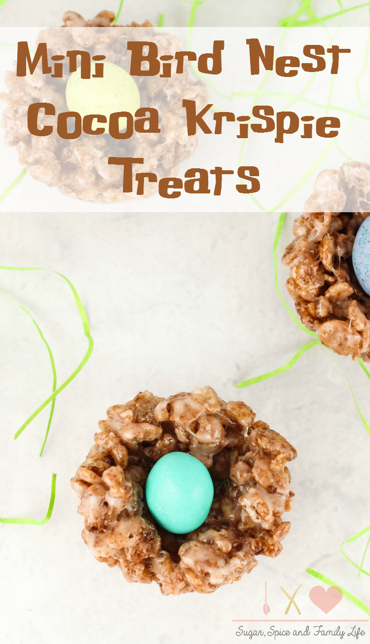 Mini Bird Nest Cocoa Krispie Treats