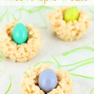 Mini Bird Nest Rice Krispie Treats