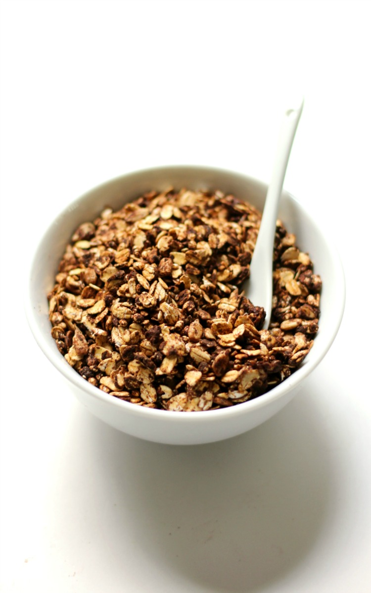 Mint Chocolate Skillet Granola