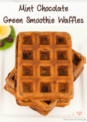 Mint Chocolate Green Smoothie Waffles Recipe