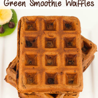 Mint Chocolate Green Smoothie Waffles