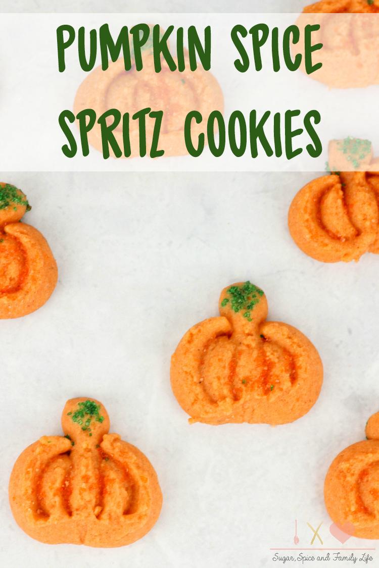 Pumpkin Spice Spritz Cookies